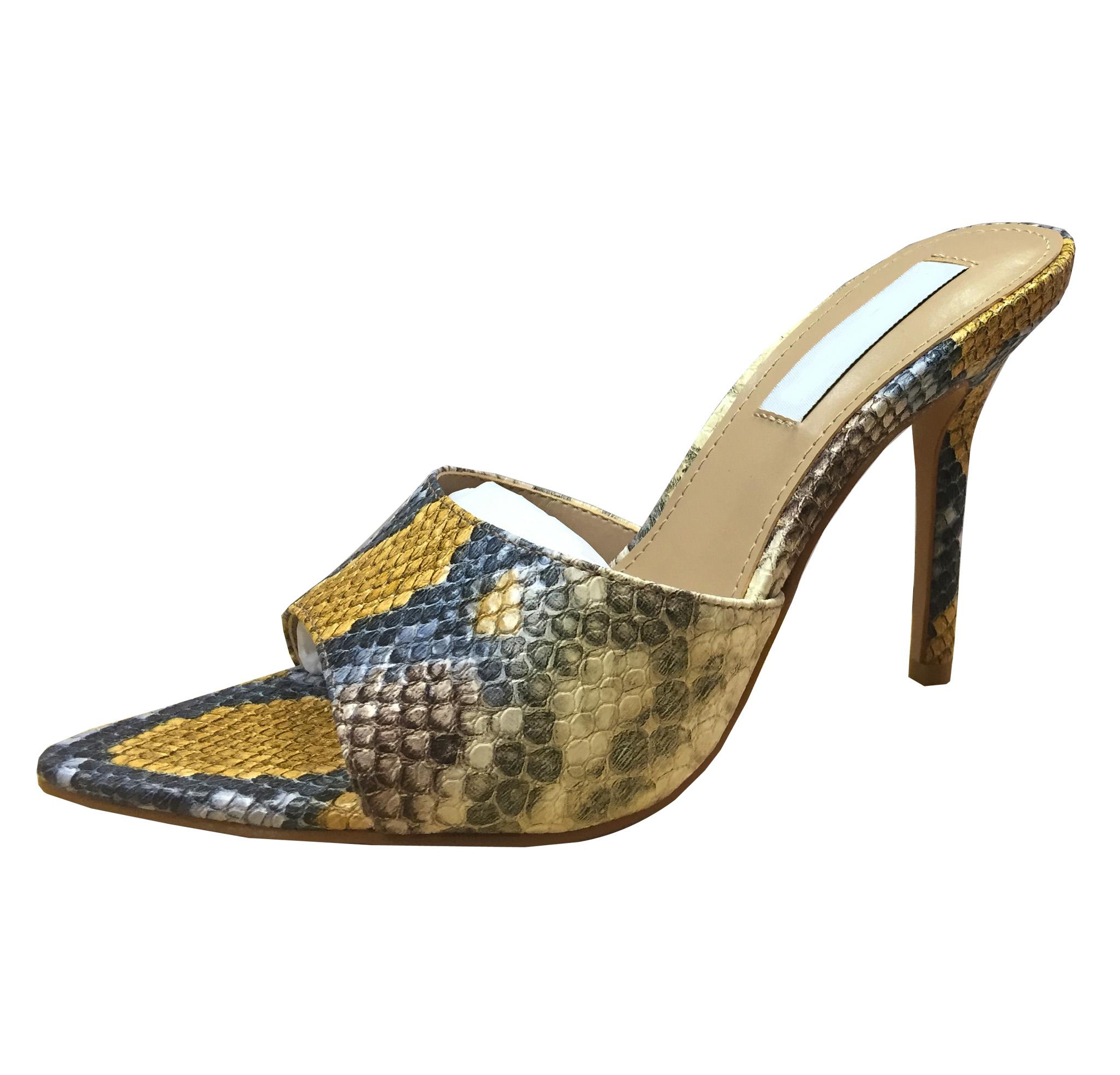东莞 凉鞋 高跟尖头拖鞋生产厂家直供-懿熙女鞋加工厂