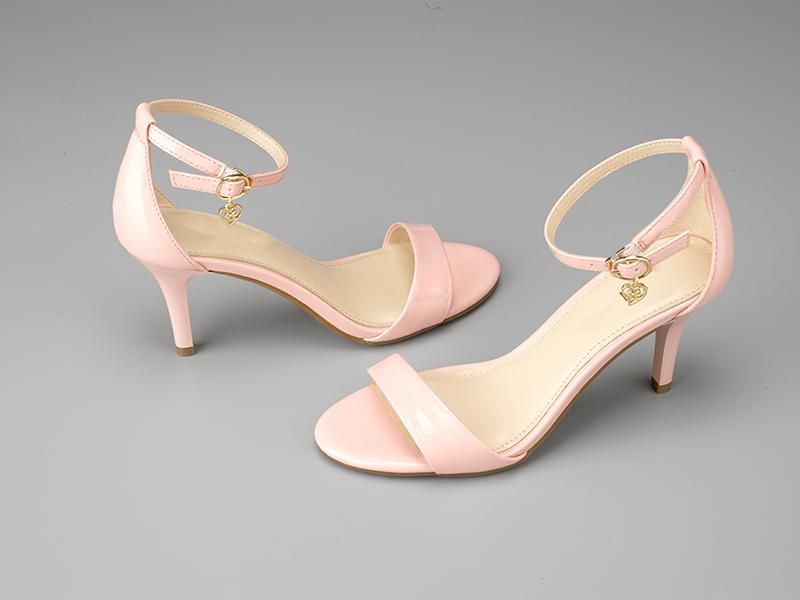 女士气质高跟凉鞋粉色