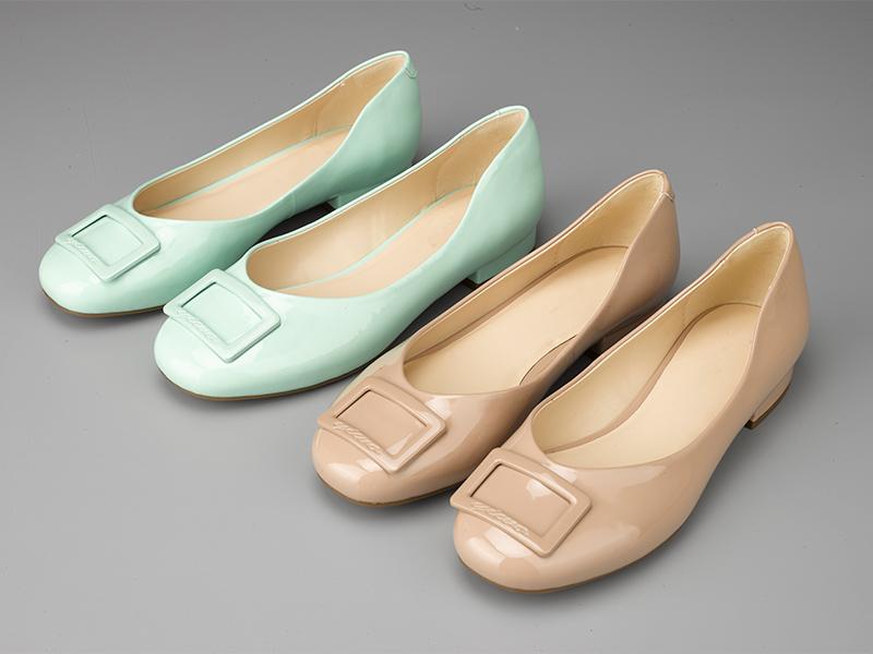 女士多色粗跟单鞋双色