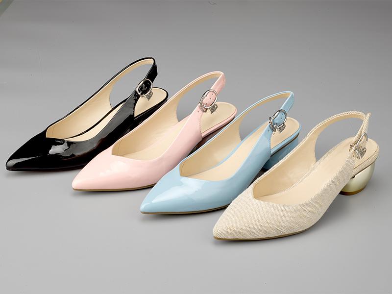女士经典粗跟凉鞋3色