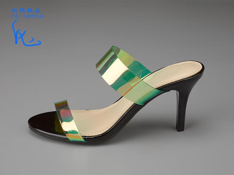 女士亮色高跟拖鞋单鞋