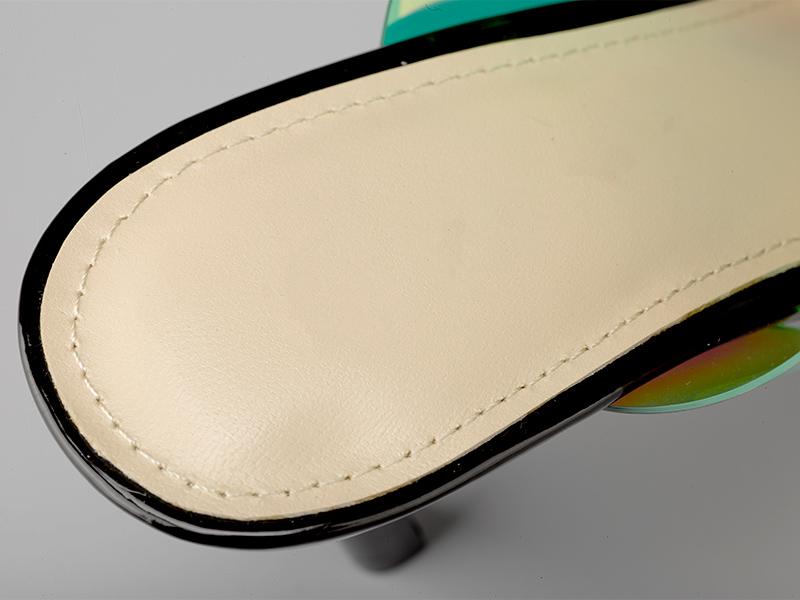 女士亮色高跟拖鞋鞋垫