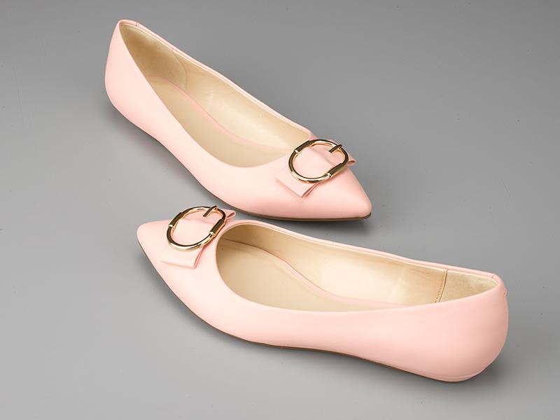 女士经典平底单鞋粉色