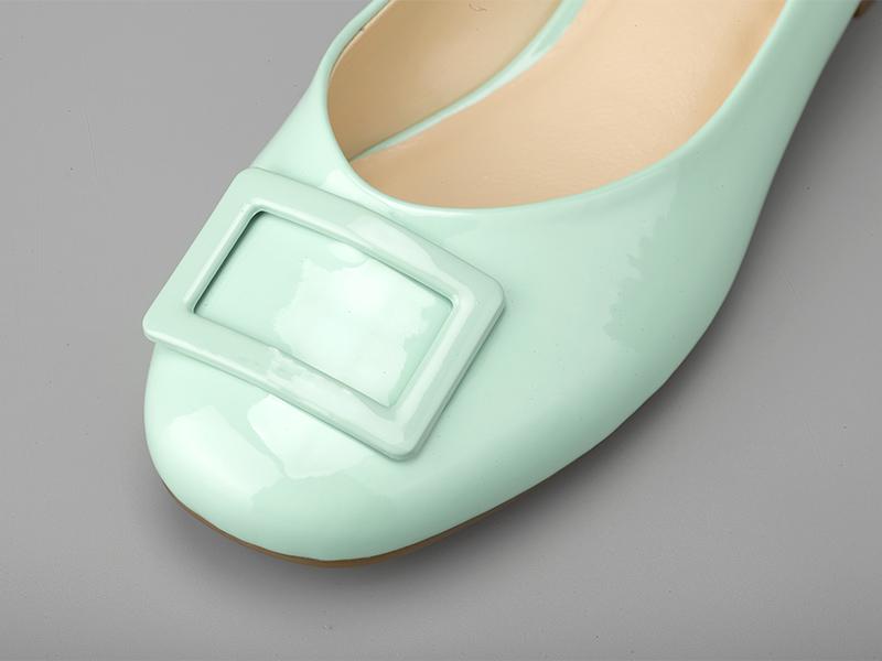 女士多色粗跟单鞋鞋面