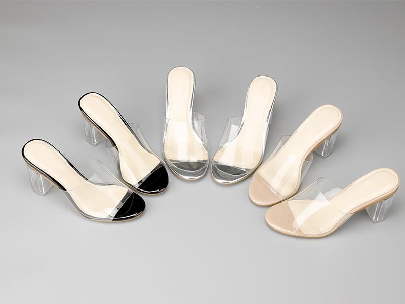 透明水晶女士拖鞋三色