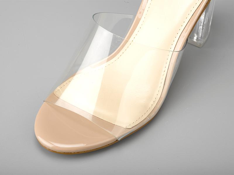 透明水晶女士拖鞋细节
