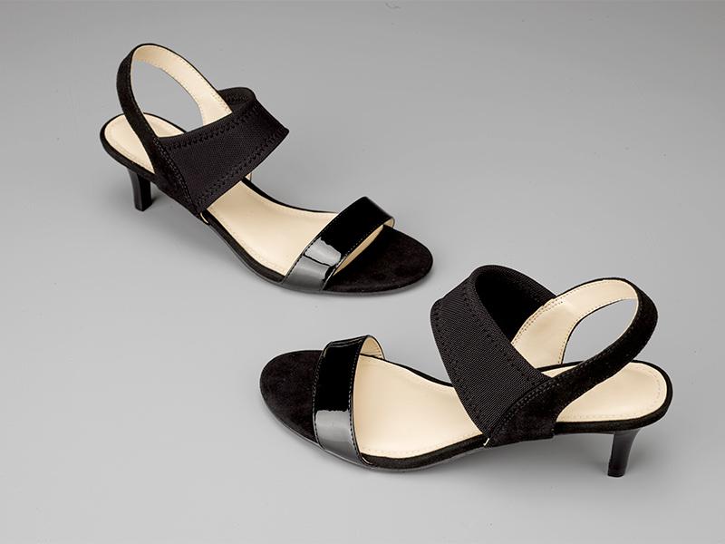 女士露指高跟凉鞋黑色