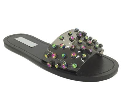 女鞋OEM定制 平跟拖鞋生产厂家花色布凉拖-懿熙女鞋加工厂