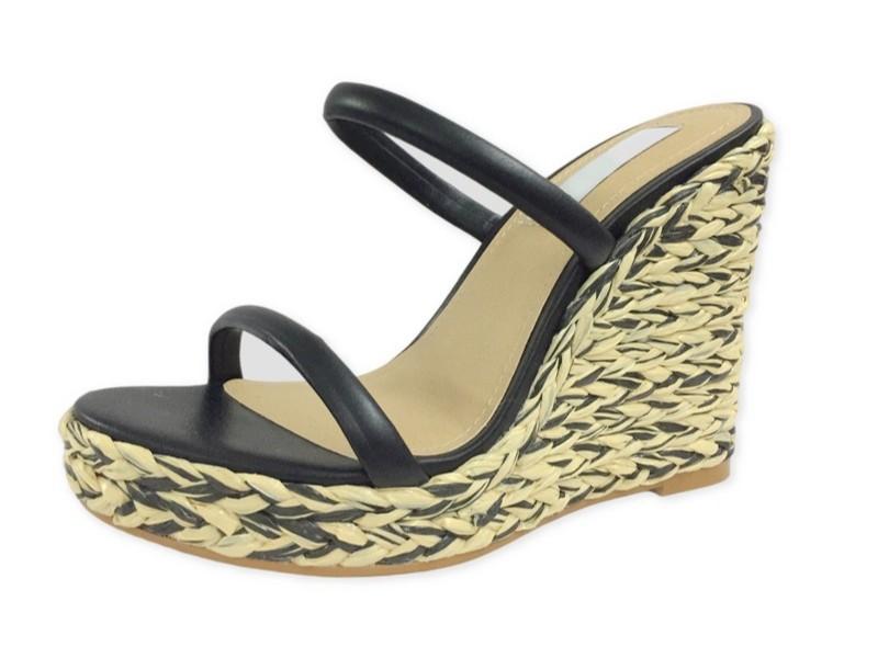 夏天新款坡跟增加厚底凉鞋