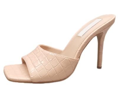 东莞凉鞋拖鞋生产厂家直供鳄鱼纹女拖鞋-