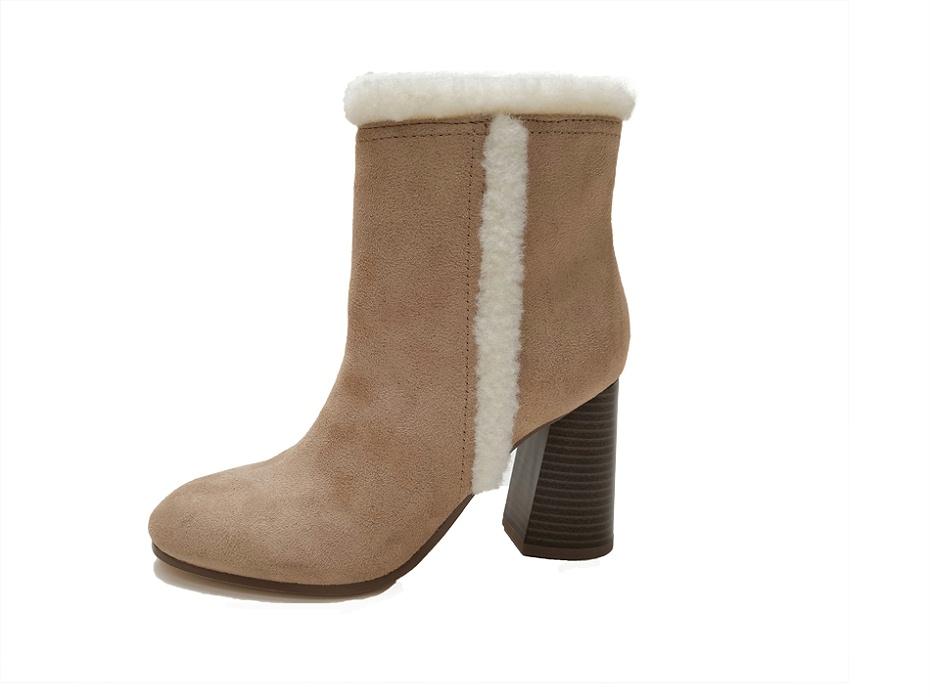 东莞懿熙鞋业女鞋生产厂家-高跟流苏短靴-女鞋加工厂