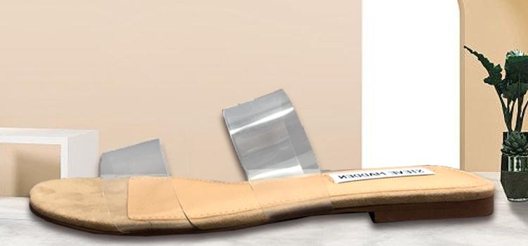 女鞋生产厂家-透明TPU平底拖鞋