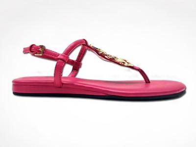 夏季新款女士休闲条带平跟凉鞋-懿熙女鞋生产厂家