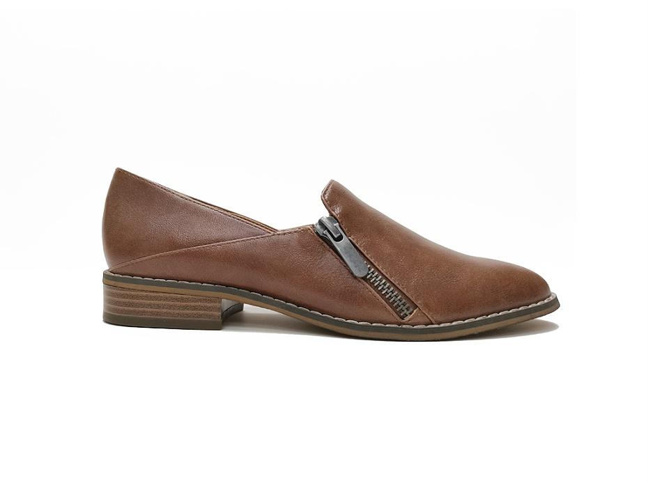 东莞懿熙鞋业女鞋生产厂家-拉链粗跟单鞋-女鞋加工厂