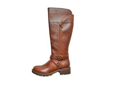 东莞懿熙女鞋生产厂家-秋冬季欧美潮流高筒长靴皮靴 骑士马靴