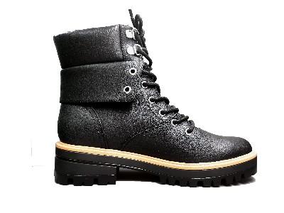 东莞懿熙女鞋生产厂家-冬新品圆头系带舒适厚底复古轻薄透气马丁靴