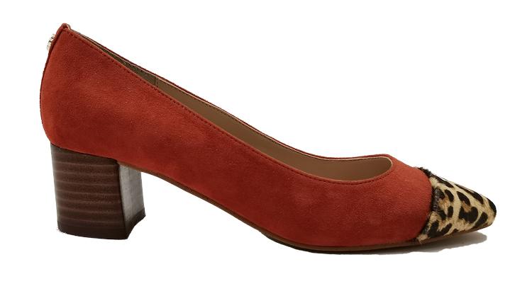 东莞懿熙鞋业女鞋生产厂家-粗跟拼色单鞋-代工工厂